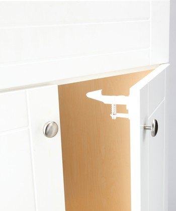 White Safety Drawer & Cabinet Latch - Set of Eight