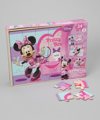 Minnie Mouse Wood Jigsaw Puzzle Set