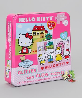 Hello Kitty Glitter & Glow Puzzle Set