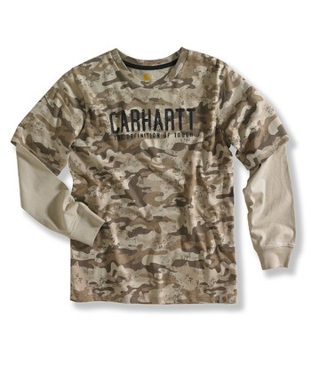 Medium Khaki Camouflage 'Tough' Layered Tee - Boys