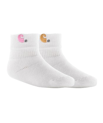 Pink & Tan Roll Cuff Socks Set