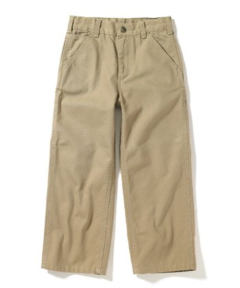 Dark Tan Canvas Dungaree Pants - Boys