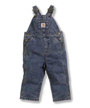 Vintage Wash Denim Overalls - Infant