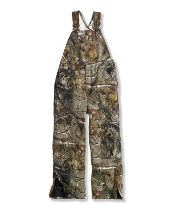 Brown Camouflage Duck Overalls - Boys
