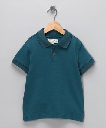 Scuba Blue Trinidad Silk-Blend Polo - Infant, Toddler & Boys