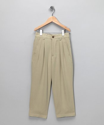 Sand Fishbone Silk Pants - Infant, Toddler & Boys