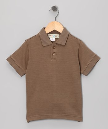 Monkey Brown Trinidad Silk-Blend Polo - Toddler & Boys