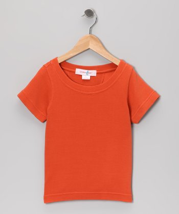 Octopus Orange Trinidad Silk-Blend Tee - Boys
