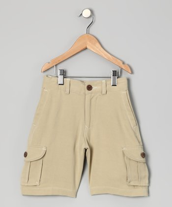 Teakwood Key Largo Silk Cargo Shorts - Boys