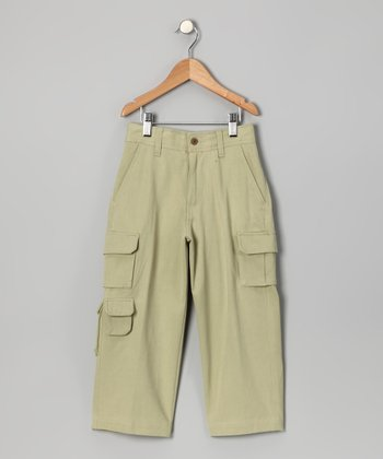 Bamboo Havana Silk-Blend Cargo Pants - Boys