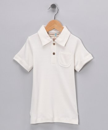 Coconut Paradise Bay Silk-Blend Polo - Infant, Toddler & Kids