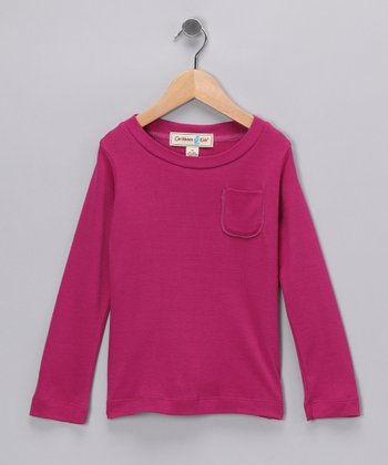 Fuchsia Paradise Bay Silk-Blend Tee - Infant, Toddler & Girls