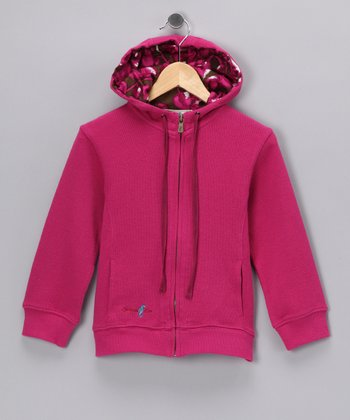 Fuchsia Palm Island Zip-Up Hoodie - Infant, Toddler & Girls