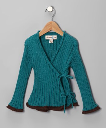Peacock Cape Coral Cardigan - Toddler & Girls