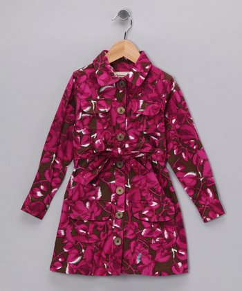 Fuchsia Costa Maya Shirt Dress - Infant, Toddler & Girls