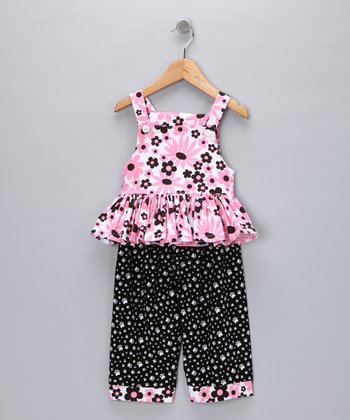 Pink Daisy Tunic & Pants - Girls