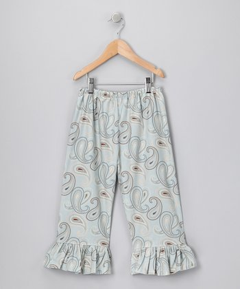 Blue Paisley Ruffle Pants - Infant & Toddler