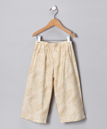 Ivory Paisley Pants - Toddler & Girls