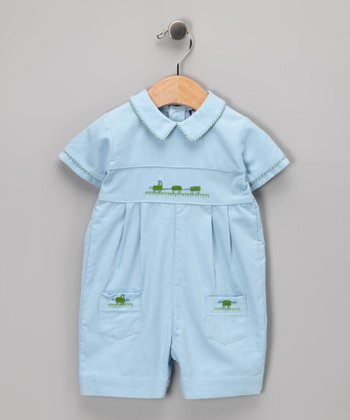 Blue Train Romper - Infant