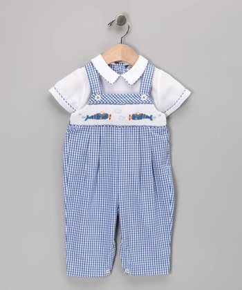 Blue Helicopter Overalls - Infant