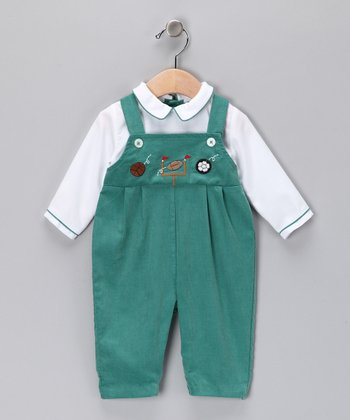 Green Layered Playsuit - Infant