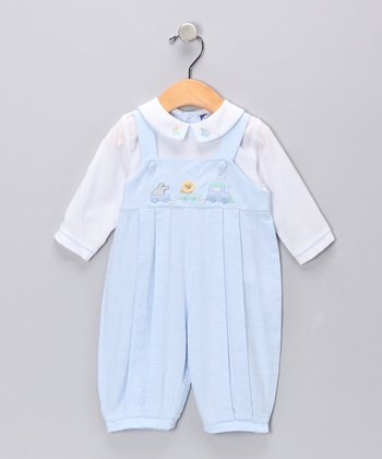 Light Blue Gingham Circus Layered Playsuit