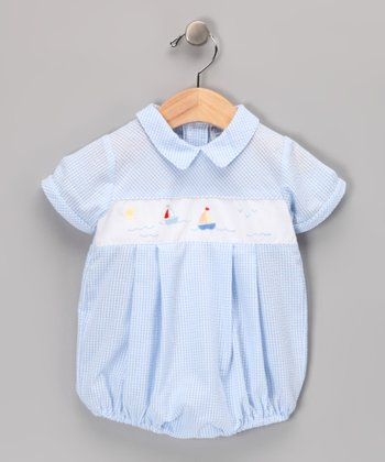 Blue Sailboat Bodysuit - Infant