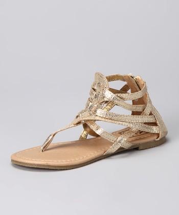 Gold Gladiator Sandal
