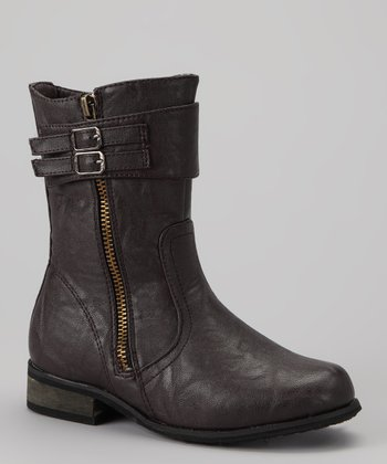 Brown Buckle Boot