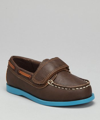 Brown & Blue Archie Boat Shoe
