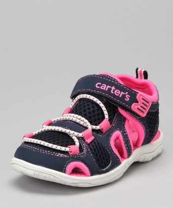 Navy & Pink Storm-G Closed-Toe Sandal