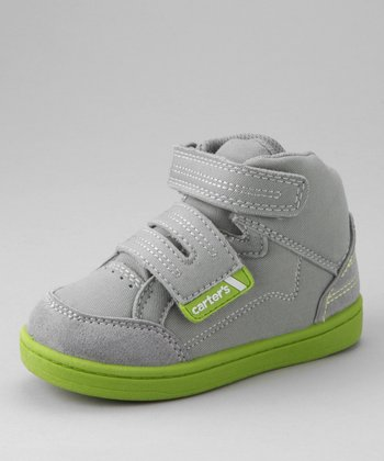 Gray & Green Supreme High-Top Sneaker