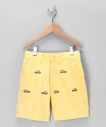 Yellow Woody Shorts - Toddler & Boys