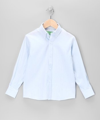 Blue Wharf Seersucker Button-Up - Boys
