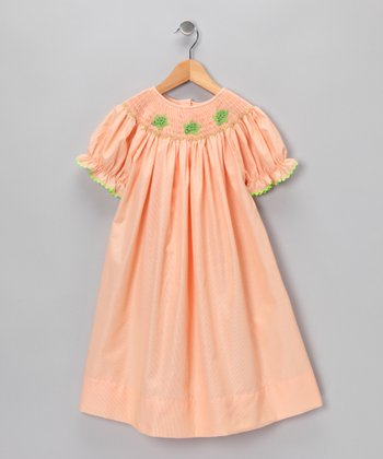 Orange Turtle Bishop Dress - Toddler & Girls