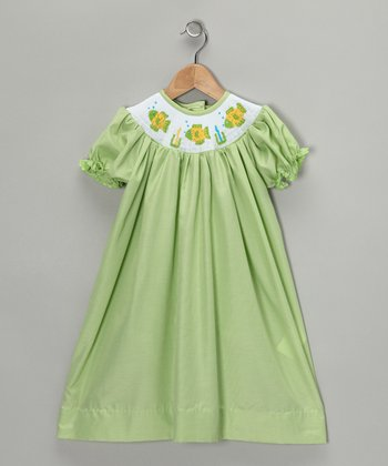 Lime Fish Bishop Dress - Infant, Toddler & Girls