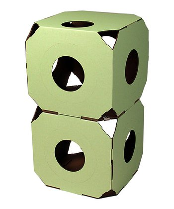 Pale Green Cat Condo - Set of Two