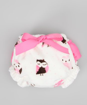White & Pink Owl MInky Bloomers - Infant