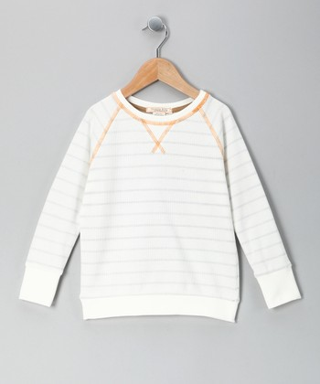 White Stripe Jack Thermal - Toddler