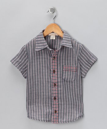 Blue Magic Button-Up - Toddler