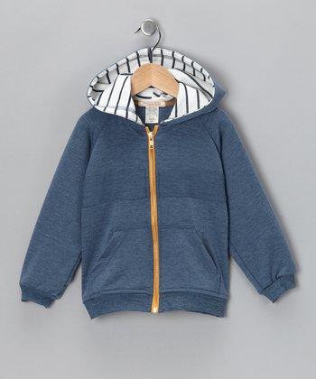 Blue Zippity Doo Zip-Up Hoodie - Toddler