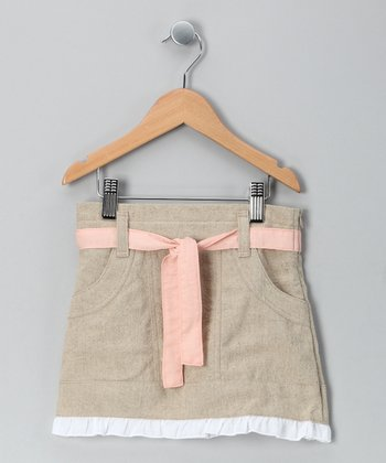 Natural Fo Fum Linen-Blend Skirt - Toddler