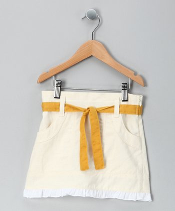 Maize Fo Fum Linen-Blend Skirt - Toddler