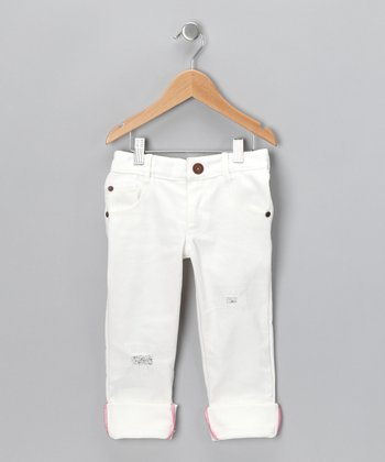 White Jane's Jagged Jeans - Toddler