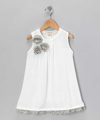 Ivory Blossom Dress - Toddler