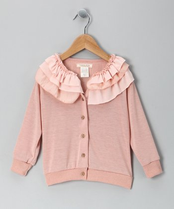 Blush Frill Icing Cardigan - Toddler