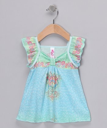 Blue Charmed Butterfly Top - Infant