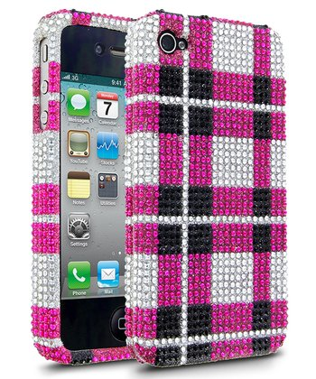 Pink Plaid DMD Case for iPhone 4/4S