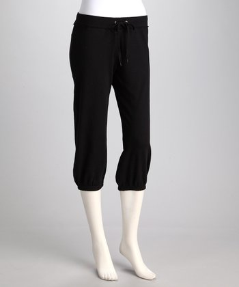 Black Capri Sweatpants