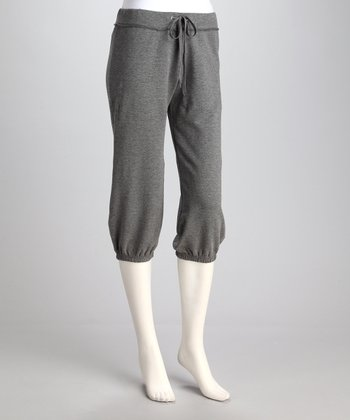 Heather Charcoal Capri Sweatpants